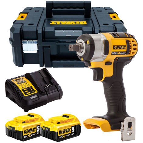 """Dewalt DCF880N 18V 1/2"""" Impact Wrench with 2 x 5.0Ah Batteries & Charger in TSTAK"""
