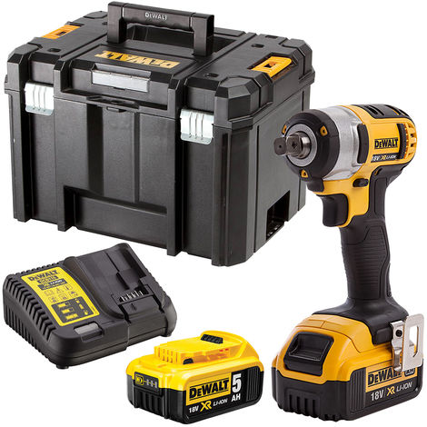 Dewalt DCF880N 18V Impact Wrench with 2 x 5.0Ah Batteries & Charger in Case