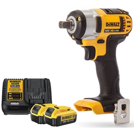 Dewalt DCF880N 18V XR Compact Impact Wrench 2 x 4Ah Battery & Charger
