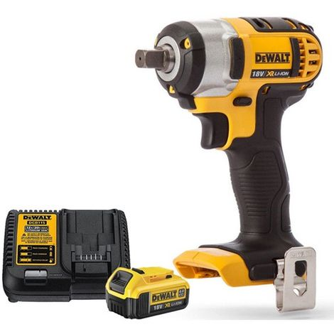 Dewalt DCF880N 18V XR Compact Impact Wrench With 4Ah Battery & Charger
