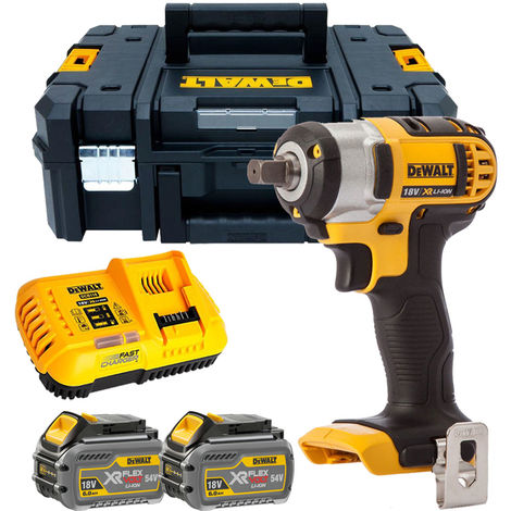 """Dewalt DCF880T2 18V 1/2"""" Impact Wrench with 2 x 6.0Ah Batteries & Charger in TSTAK"""