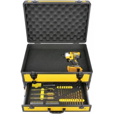 DeWalt DCF887 18V XR BL Impact Driver With 70 Piece Accessory Set in Aluminum Case