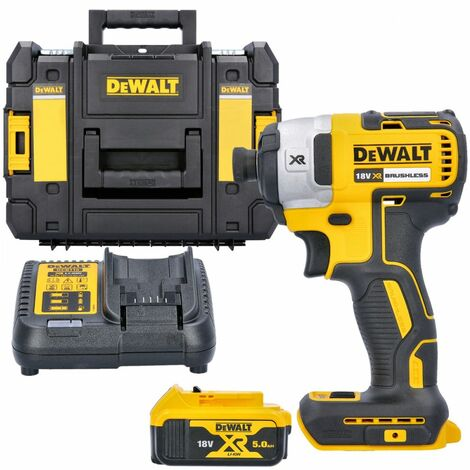 Dewalt DCF887 18V XR Impact Driver With 1 x 5.0Ah Battery, Charger & T-Stack Case