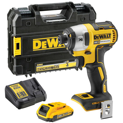 Dewalt DCF887D1 18V Brushless Impact Driver with 2.0Ah Battery & Charger in Case