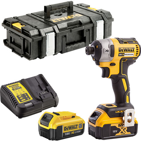 DeWalt DCF887N 18V Brushless Impact Driver 2 x 4.0Ah Batteries Charger & Tool Box