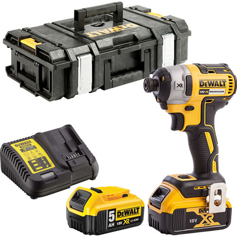 DeWalt DCF887N 18V Brushless Impact Driver 2 x 5.0Ah Batteries Charger & Tool Box