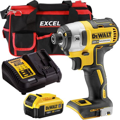 DeWalt DCF887N 18V Brushless Impact Driver with 1 x 4.0Ah Battery Charger & Bag