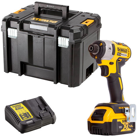 DeWalt DCF887N 18V Brushless Impact Driver with 1 x 5.0Ah Battery & Charger in Case
