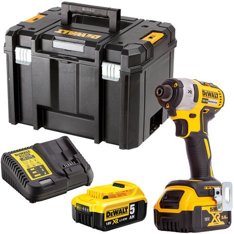 DeWalt DCF887N 18V Brushless Impact Driver with 2 x 5.0Ah Batteries & Charger in Case