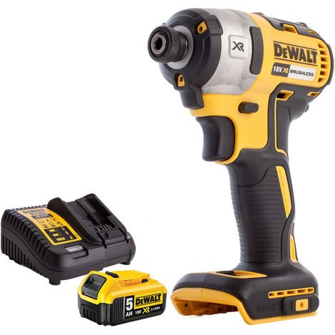 DeWalt DCF887N 18v Brushless Impact Driver with 5Ah Battery & Charger