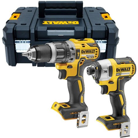 DeWalt DCF887N 18V Brushless Impact Driver with DCD796N Brushless Combi Drill + CASE