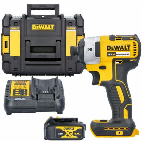 Dewalt DCF887N 18V XR Impact Driver With 1 x 4.0Ah Battery, Charger & T-Stack Case