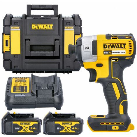 Dewalt DCF887N 18V XR Impact Driver With 2 x 4.0Ah Batteries, Charger & T-Stack Case