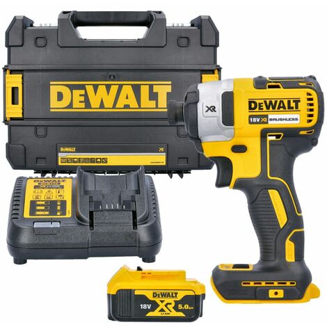 """main image of """"Dewalt DCF887P1 18V XR 3-Speed Brushless Impact Driver With 1 x 5.0Ah Battery, Charger & Case"""""""