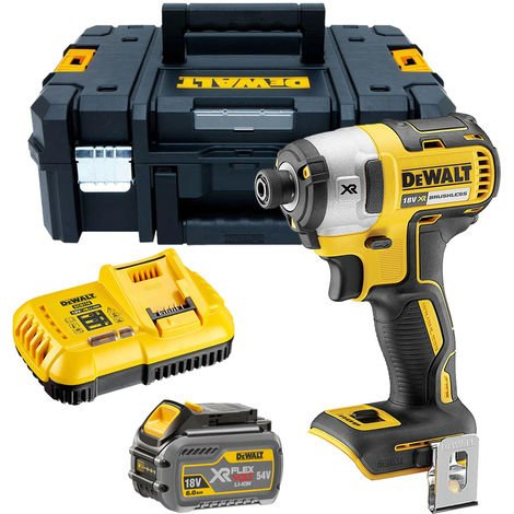 Dewalt DCF887T1 18V Brushless Impact Driver with 1 x 6.0Ah Battery & Charger in TSTAK