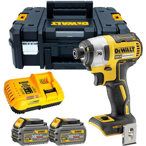 Dewalt DCF887T2 18V Brushless Impact Driver with 2 x 6.0Ah Batteries & Charger in TSTAK