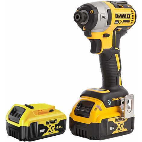 DeWalt DCF888N 18V XR Brushless Impact Driver with 2 x 4.0Ah Batteries