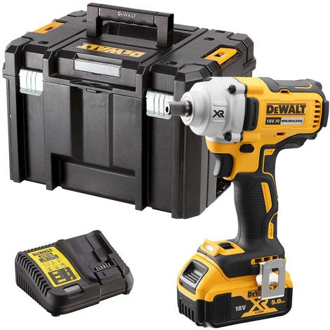 Dewalt DCF894N 18V Brushless Impact Wrench with 1 x 5.0Ah Battery & Charger in Case