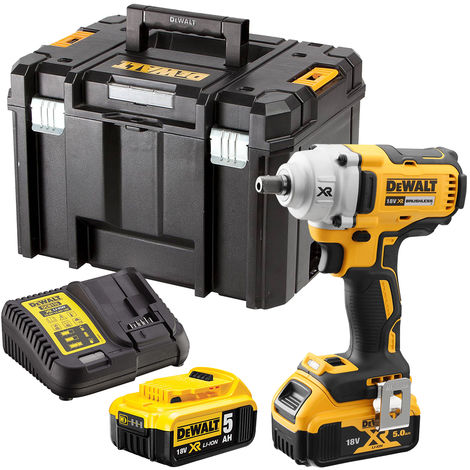 Dewalt DCF894N 18V Brushless Impact Wrench with 2 x 5.0Ah Batteries & Charger in Case