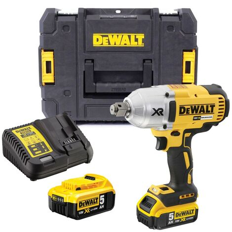 """Dewalt DCF897P2 18v XR Mid Torque Brushless Compact Impact Wrench 3/4"""" - 2 x 5ah"""