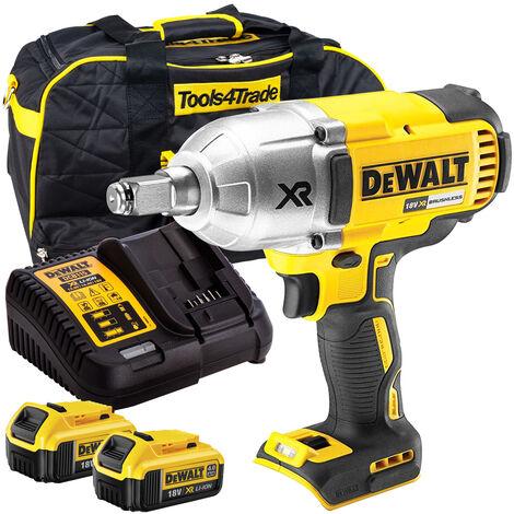 DeWalt DCF899HN 18V Brushless Impact Wrench 2x4Ah Battery Charger Case:18V