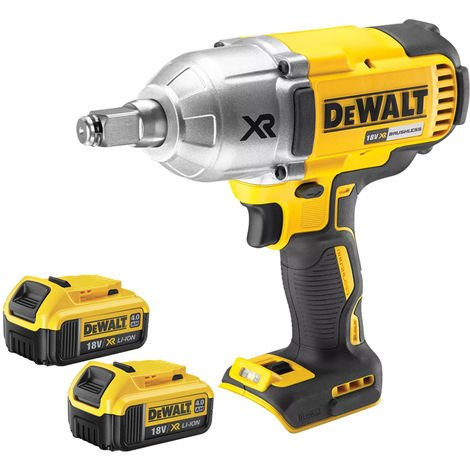 DeWalt DCF899HN 18V Brushless Impact Wrench With 2 x 4.0Ah Batteries:18V