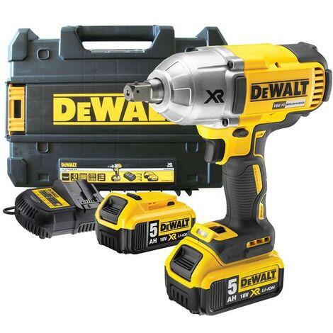 Dewalt DCF899HP2 18v XR Brushless High Torque Impact Wrench Hog Ring + 2 x 5.0Ah