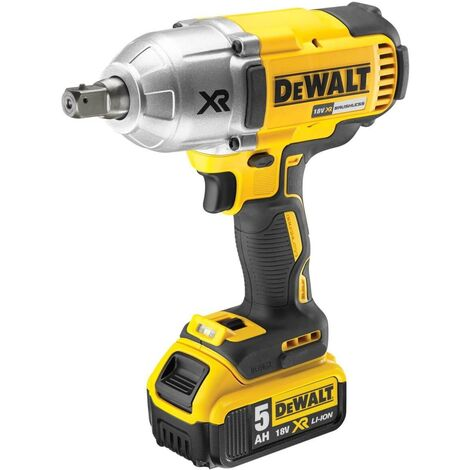 "Dewalt DCF899P1 XR 18v High Torque Impact Wrench 1/2"" 1 x 5.0ah Batt Charger Bag"