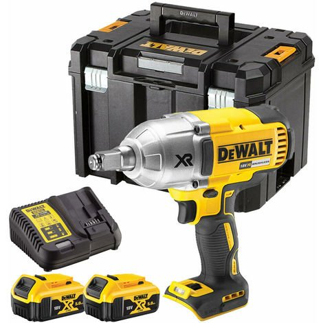 Dewalt DCF899P2 18V Brushless Impact Wrench with 2 x 5.0Ah Batteries & Charger in TStak:18V
