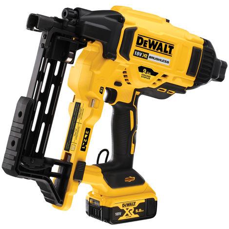 Dewalt DCFS950P2 18V XR Brushless 9Ga Fencing Stapler with 2x5.0Ah Batteries & Charger In Case:18V