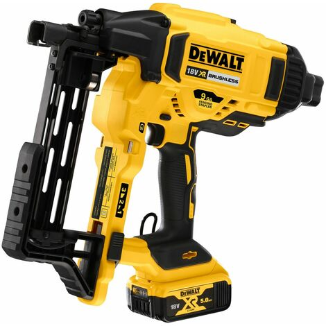 DeWalt DCFS950P2 18V XR Brushless Fencing Stapler 2 x 5.0Ah Batteries