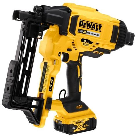 DeWALT DCFS950P2-GB 18V XR Brushless Fencing Stapler - 2x 5AH