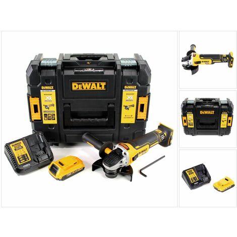 DeWalt DCG 405 D1 18 V 125 mm Meuleuse sans fil Brushless avec boîtier TStak + 1x Batterie 2 Ah + Chargeur