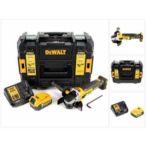 DeWalt DCG 405 P1 18 V 125 mm Meuleuse sans fil Brushless avec boîtier TStak + 1x Batterie 5 Ah + Chargeur