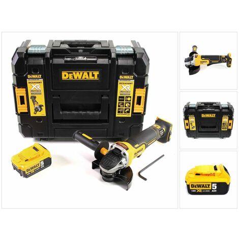 DeWalt DCG 406 18 V 125 mm Brushless Meuleuse d'angle + 1x Batterie 5 Ah + Coffret de transport TStak - sans Chargeur