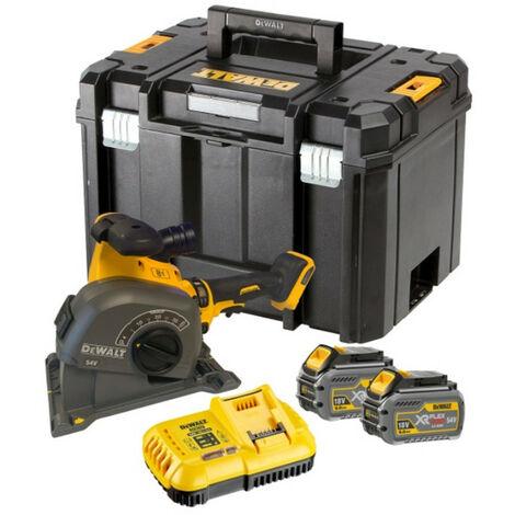 DeWalt DCG200T2 54V XR FLEXVOLT Wall Chaser Kit With 2 x 6.0Ah Batteries