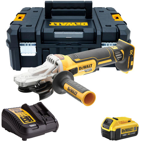 Dewalt DCG405FN 18V Brushless 125mm Angle Grinder with 1 x 4.0Ah Battery & Charger in Tstak