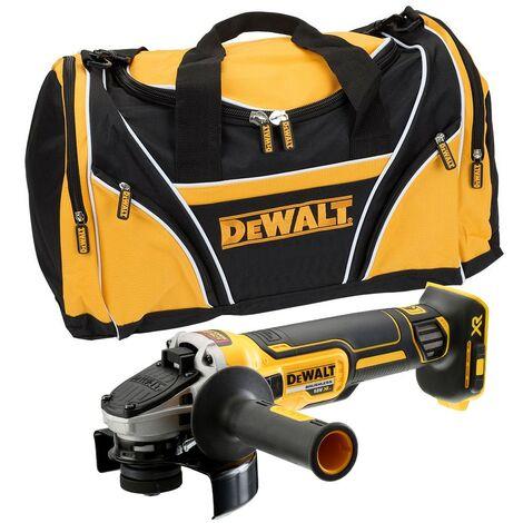 Dewalt DCG405N 18v XR Brushless Cordless 125mm Angle Grinder Bare + Tool Bag