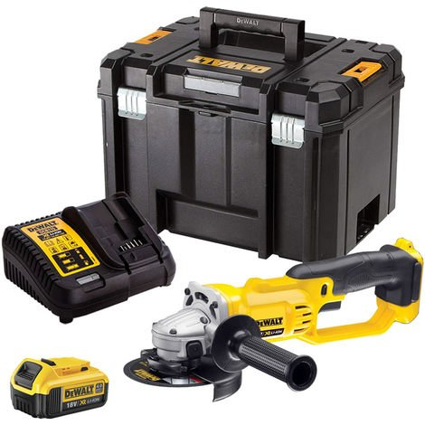 DeWalt DCG412N 18V 125mm Angle Grinder with 1 x 4.0Ah Battery & Charger in TSTAK