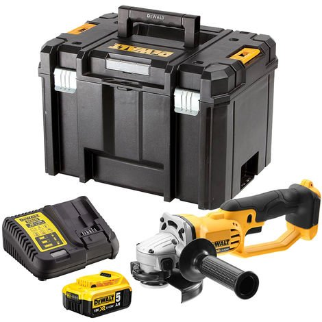 DeWalt DCG412N 18V 125mm Angle Grinder with 1 x 5.0Ah Battery & Charger in Case