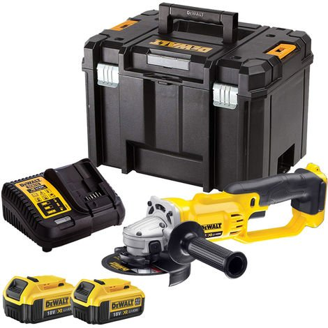 DeWalt DCG412N 18V 125mm Angle Grinder with 2 x 4.0Ah Batteries & Charger in TSTAK