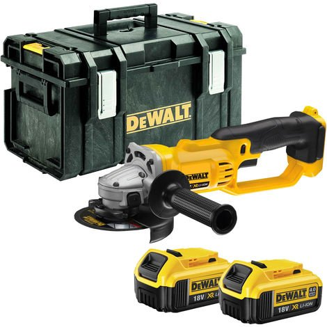 DeWalt DCG412N 18V 125mm Angle Grinder With 2 x 4Ah Batteries & KitBox:18V