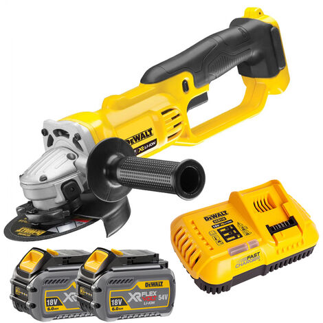 DeWalt DCG412N 18V 125mm Angle Grinder With 2 x 6.0Ah Batteries & Charger