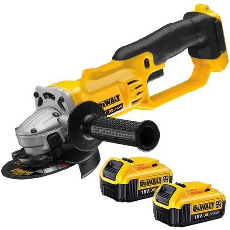 DeWalt DCG412N 18v XR 125mm Angle Grinder with 2 x 4.0ah Batteries