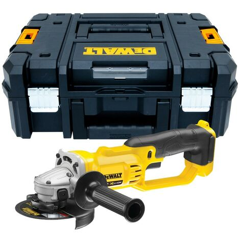 Dewalt DCG412N 18v XR Cordless 125mm Angle Grinder Bare Unit + Tstak Carry Case