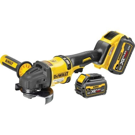 DeWALT DCG418T2-GB 54V XR FLEXVOLT 125mm Angle Grinder 2x6.0ah Batts