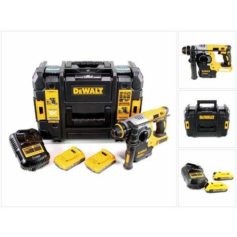 DeWalt DCH 273 D2 18 V Brushless Perforateur sans fil SDS-Plus avec boîtier TSTAK + 2x Batteries DCB 183 2,0 Ah + Chargeur DCB 105