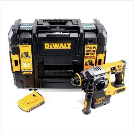 DeWALT DCH 273 Martillo electroneumático a batería XR SDS-Plus 18V en maletín TSTAK + 1x Batería DCB 183 2,0 Ah