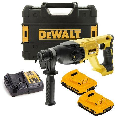 Dewalt DCH133D2 18v SDS+ Brushless Hammer SDS Drill 2 x 2.0ah Battery Tstak Case