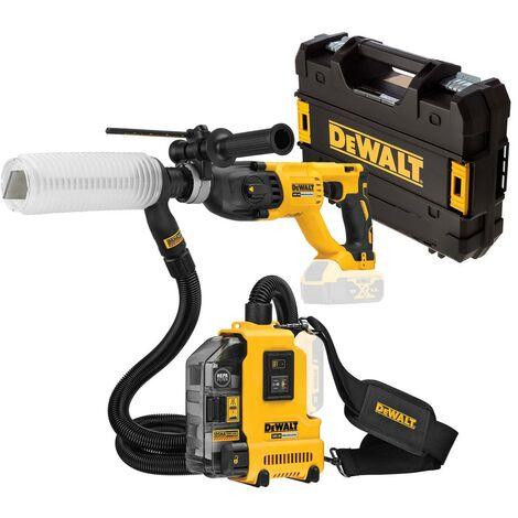Dewalt DCH133NT 18v Brushless SDS Hammer Drill 3 Mode Bare Case + Dust Extractor